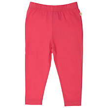 Buy Frugi Girls' Organic Cotton Leggings, Raspberry Online at johnlewis.com