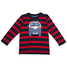 Buy Frugi Organic Cotton Camper Van Long Sleeved Top, Red Online at johnlewis.com