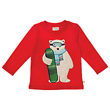 Buy Frugi Polar Bear Top, Red Online at johnlewis.com