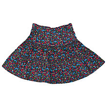 Buy Frugi Girls' Organic Cotton Ditsy Floral Tiered Skirt, Multi Online at johnlewis.com