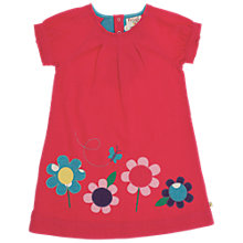 Buy Frugi Girls' Organic Cotton Corduroy Flower Dress, Red Online at johnlewis.com