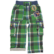 Buy Frugi Organic Cotton Lined Checked Combat Trousers Online at johnlewis.com