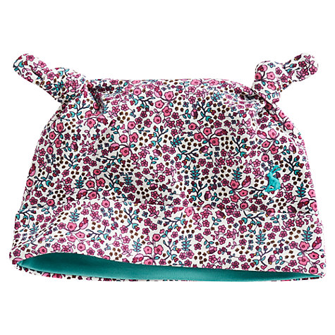 Buy Baby Joule Ditsy Floral Print Hat, Pink/Multi Online at johnlewis.com