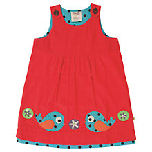 Buy Frugi Girls' Birds Pinafore Dress, Red Online at johnlewis.com