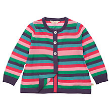 Buy Frugi Girls' Organic Cotton Striped Cardigan, Multi Online at johnlewis.com