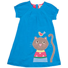 Buy Frugi Girls' Organic Cotton Cat Dress, Blue Online at johnlewis.com