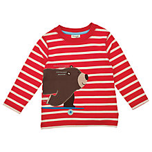Buy Frugi Organic Cotton Skateboarding Long Sleeved Top, Red Online at johnlewis.com