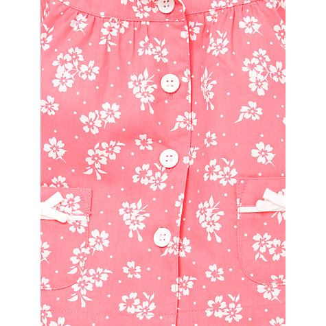 Buy John Lewis Floral Brushed Cotton Pyjamas, Pink Online at johnlewis.com