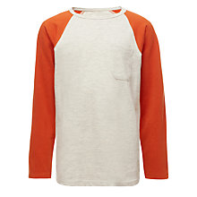 Buy Kin by John Lewis Boys' Contrast Long Sleeve Top Online at johnlewis.com