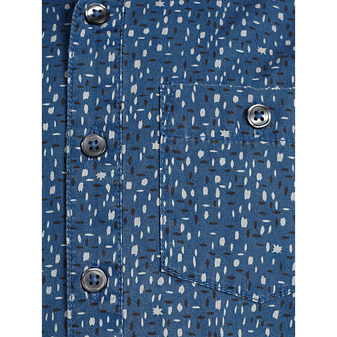 Buy Kin by John Lewis Boys' Speckle Print Long Sleeve Shirt, Teal Online at johnlewis.com