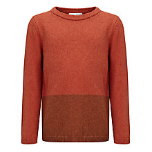 Buy Kin by John Lewis Boys' Colour Block Jumper, Red Online at johnlewis.com