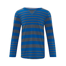 Buy Kin by John Lewis Boys' Striped Long Sleeve Top, Blue/Grey Online at johnlewis.com
