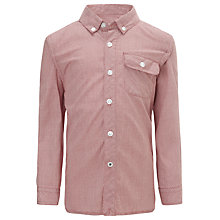 Buy Kin by John Lewis Boys' Mini Check Long Sleeve Shirt, Red Online at johnlewis.com