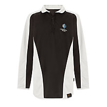 Buy Lyndon School, Solihull Unisex Rugby Jersey, Black/White Online at johnlewis.com