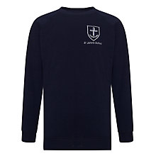 Buy St John's CE JMI School Unisex Sweatshirt, Navy Blue Online at johnlewis.com