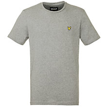 Buy Lyle & Scott Crew Neck T-Shirt, Mid Marl Grey Online at johnlewis.com