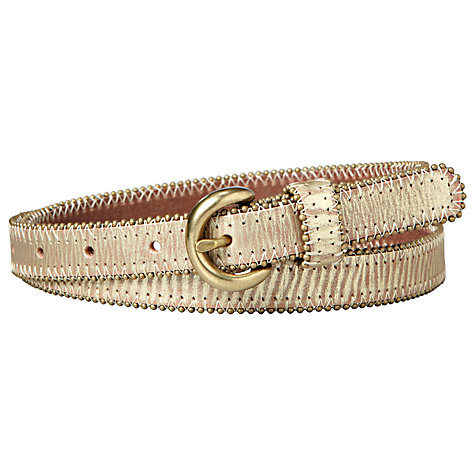 Buy Fossil Shotbead Belt, Antique Gold Online at johnlewis.com
