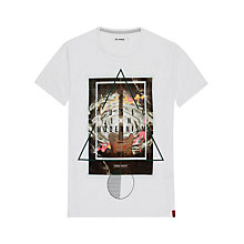 Buy Ben Sherman Crew Neck Guitar T-Shirt, Bright White Online at johnlewis.com