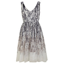 Buy Mint Velvet Wisteria Print Dress, White/Grey Online at johnlewis.com
