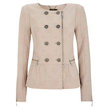 Buy Mint Velvet Jacquard Jacket, Shell Pink Online at johnlewis.com