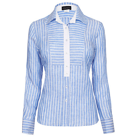 Buy James Lakeland Linen Shirt, Pale Blue Online at johnlewis.com