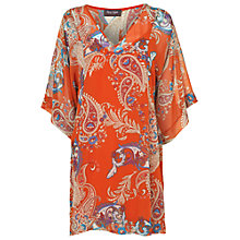 Buy Phase Eight Georgette Paisley Tunic Dress, Orange Online at johnlewis.com