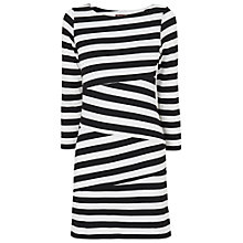 Buy Phase Eight Cut Striped Tunic Dress, Black/White Online at johnlewis.com
