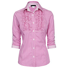 Buy James Lakeland Cotton Shirt, Fuchsia Online at johnlewis.com