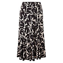 Buy CC Monochrome Leaf Jersey Skirt, Black Online at johnlewis.com