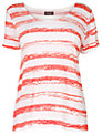 Phase Eight Chalky T-Shirt, Coral/White