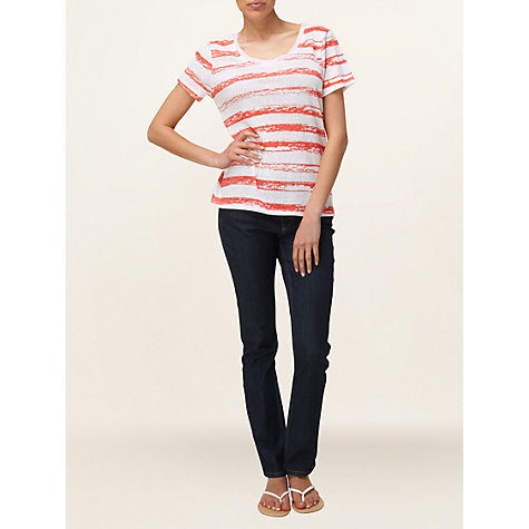 Buy Phase Eight Chalky T-Shirt, Coral/White Online at johnlewis.com