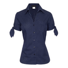 Buy James Lakeland Short Sleeve Cotton Shirt, Navy Online at johnlewis.com