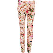 Buy Ted Baker Natural Kingdon Printed Jeans, Pale Pink Online at johnlewis.com