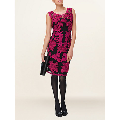 Buy Phase Eight Kitty Dress, Black/Carmine Online at johnlewis.com