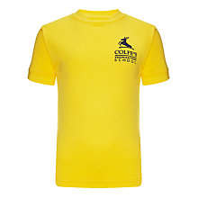 Buy Colfe's School Unisex PE T-Shirt, Yellow Online at johnlewis.com