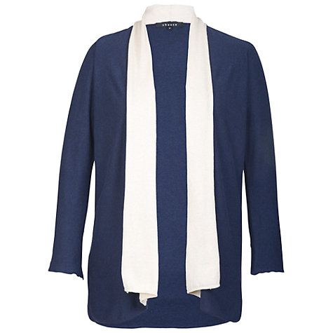 Buy Chesca Border Cardigan, Navy/Ivory Online at johnlewis.com