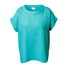Buy East Bardot Top, Turquoise Online at johnlewis.com