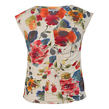 Buy Chesca Abstract Poppy Top, Cream Online at johnlewis.com