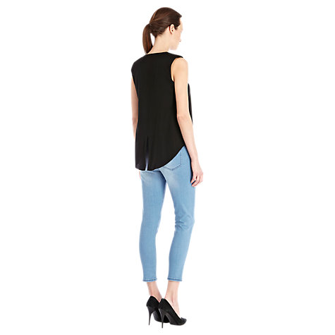 Buy Warehouse Padded Shoulder Top Online at johnlewis.com