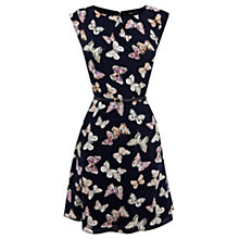Buy Oasis Butterfly Print Dress, Navy Online at johnlewis.com