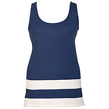 Buy Chesca Striped Hem Top, Navy/Ivory Online at johnlewis.com
