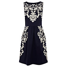 Buy Oasis Scroll Print Dress, Multi Online at johnlewis.com