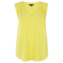 Buy Warehouse Padded Shoulder Top, Yellow Online at johnlewis.com