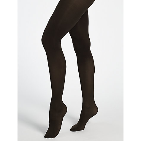 Buy John Lewis 60 Denier Velvet Touch Opaque Tights, Brown Online at johnlewis.com