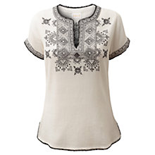 Buy East Skiathos Blouse, White Online at johnlewis.com