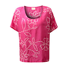 Buy East Bandhini Blouse, Bright Pink Online at johnlewis.com