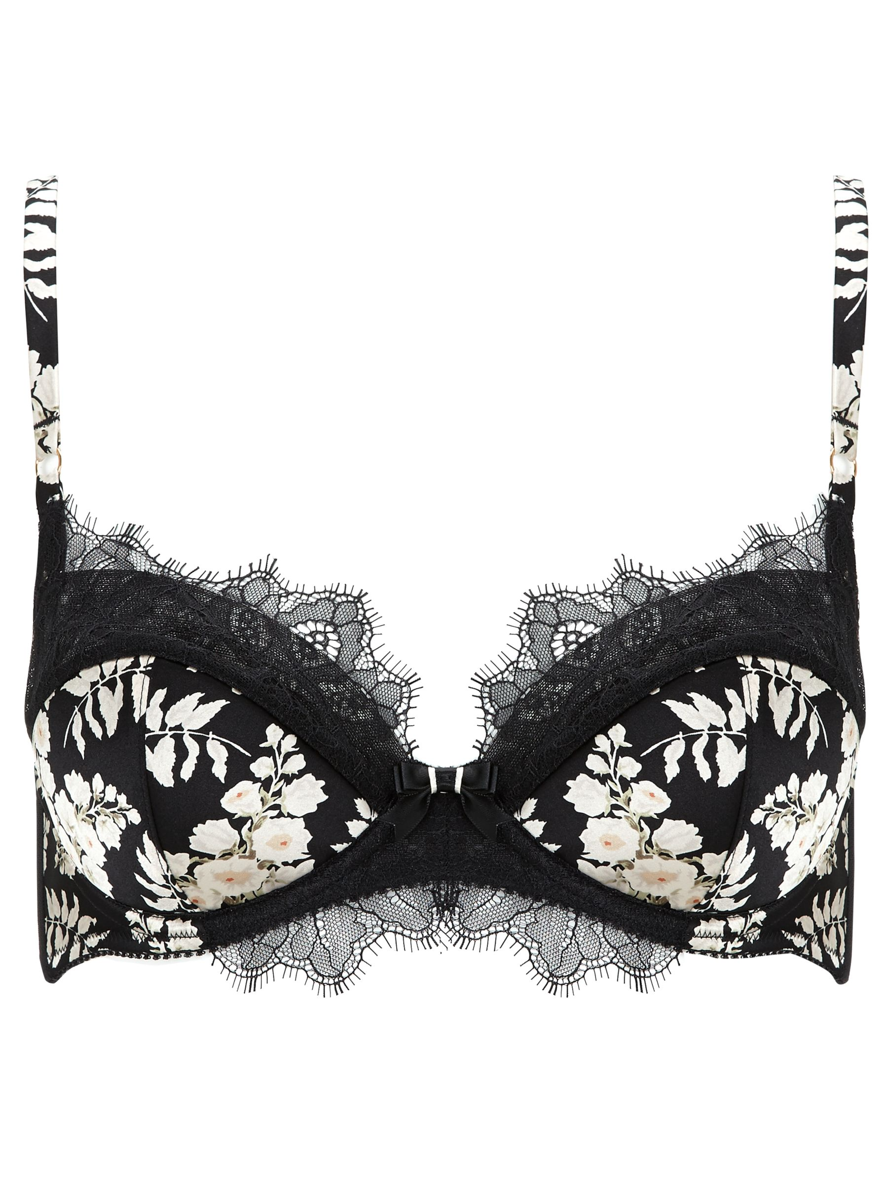 Somerset by Alice Temperley Alice Floral Balcony Bra, Black / Multi