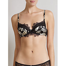 Buy Somerset by Alice Temperley Alice Floral Balcony Bra, Black / Multi Online at johnlewis.com