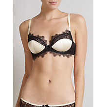 Buy Somerset by Alice Temperley Vintage Lace Padded Bra, Cream / Black Online at johnlewis.com