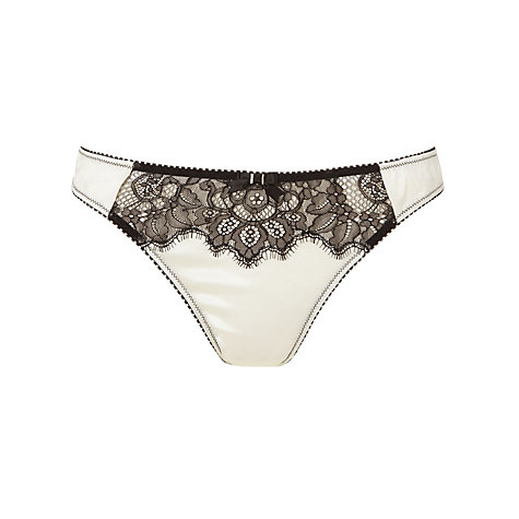Buy Somerset by Alice Temperley Vintage Lace Thong, Cream / Black Online at johnlewis.com